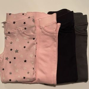 Bundle of 4 jeggings 3T by jumping beans